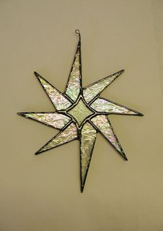 Exotic Star stained glass on Etsy Stained Glass Ornaments, Stained Glass Christmas, Stained Glass Suncatchers, Stained Glass Designs, Stained Glass Projects, Stained Glass Patterns, Glass Christmas Ornaments, Stained Glass Art, Stained Glass Windows