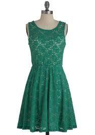 green-blue vintage dress