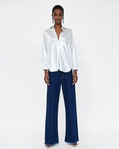 Shopping basket - ZARA United Kingdom Zara United Kingdom, Zara Women, Bell Bottoms, Bell Bottom Jeans, My Style, Metallic, Pants, Shirts, Shopping