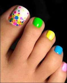 Nail art is a very popular trend these days and every woman you meet seems to have beautiful nails. It used to be that women would just go get a manicure or pedicure to get their nails trimmed and shaped with just a few coats of plain nail polish. Pretty Toe Nails, Cute Toe Nails, Pretty Toes, Cute Toes, Pedicure Nail Art, Toe Nail Art, Nail Nail, Acrylic Nails, Toe Nail Polish