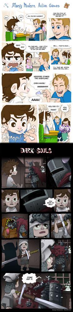 Action Games vs. Dark Souls
