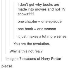 I need a Harry Potter tv show