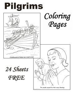 Coloring pages of Pilgrims!