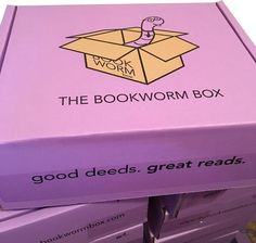 The Bookworm Box - Get a MONTHLY SUBSCRIPTION box with 2 autographed books, A BOOKWORM ITEM plus fun book swag!