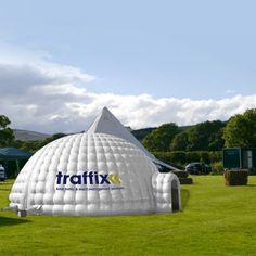Give a startling impression of your brand with our custom printed inflatable igloo tents.