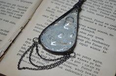 shiny milky droplet necklacemysterious by ZokaKurylov on Etsy