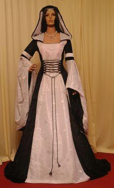 medieval renaissance wedding handfasting dress custom made. $270.00, via Etsy.
