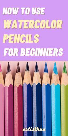Watercolor Beginner, Watercolor Paintings For Beginners, Watercolor Art Lessons, Painting Lessons, Painting & Drawing, Watercolour Paintings, Drawing Lessons, Watercolor Pencils Techniques, Watercolor Pencil Art