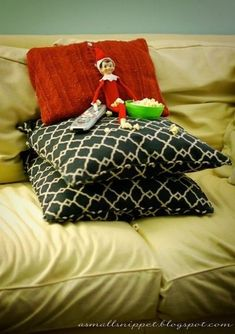 Movie Night! - Elf On The Shelf Ideas - Photos