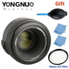 72.99$  Buy now - YONGNUO YN 50mm f/1.8 AF Lens YN50mm Aperture Auto Focus Large Aperture for Nikon DSLR Camera as AF-S 50mm 1.8G + Gift Kit  #buychinaproducts