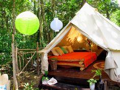 Palmar Tent Lodge located on Red Frog Beach, Isla Bastimentos, Bocas del Toro.