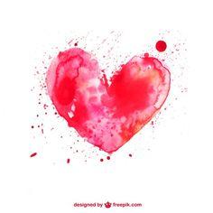 Coração da aguarela