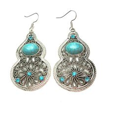 Turquoise earrings Natural turquoise earrings Jewelry Earrings