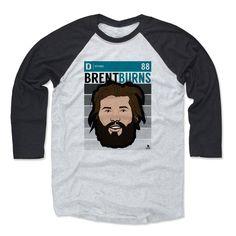 Brent Burns Fade T San Jose Officially Licensed NHLPA Baseball T-Shirt Unisex S-3XL