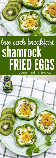 Are you looking for a breakfast idea for St. Patrick's Day? These Shamrock Fried Eggs are delicious, healthy and a lot of fun for St. Patty's Day - or any day of the year. #lowcarb #keto #lowcarbbreakfast #ketobreakfast #stpatricksday #stpattysday #eggrecipes via @happymothering