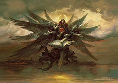 """A IRA DOS ANJOS   meusite Azieel é um anjo renegado, covarde e ambicioso que não se importa com nada a não ser sua vontade de se tornar Rei das Sentinelas. Denominado por seus inimigos como """"A prole do demônio."""""""