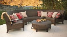 Del Mar Curved Modular Seating Frontgate 2014 Outdoor Book.