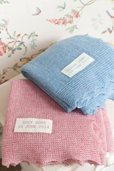 These lovely easy baby blankets are knitted in one piece with a light Shetland wool, using stocking stitch and garter stitch