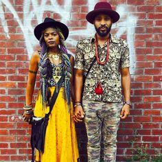 Mattie @mattiemichellegoesin Keite @keiteyoung #afropunk