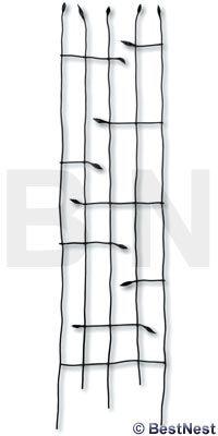 "Panacea Forged Twig & Leaf Trellis, Black, 72""H at BestNest.com"