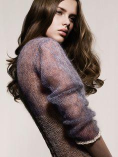 Antique fuchsia fall sweater