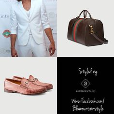 #OurHolidayGiftIdeas  #resortwear @dmarshcouture - Jacket and pants @gucci -Horsebit ostrich loafer and Duffle bag  #stye #Dapper #menswear #menstyle #mensshoes #mensfashion