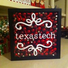 Texas Tech Christmas Decor - Would have to change it to purple and Kansas State. ;D