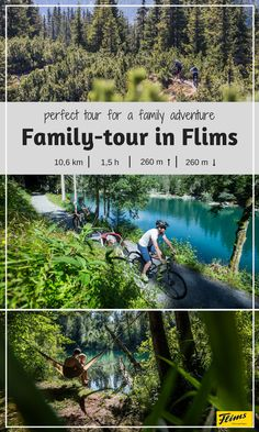 Planning a family bike adventure? In Flims there are several tours perfect kids of all ages. This tour will take you along different lakes and show you the best parts of the forest in Flims. Seen, Family Adventure, Mountain Biking, Lakes, Trail, Explore, Mountains, How To Plan, Flims