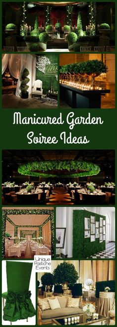 I'm not saying this because green is my favorite color, I'm saying it because it's true: green is an amazing color. Not just for events, though that is true too, but for all sorts of decor. Green i… Gala Themes, Event Themes, Event Decor, Gala Decor, Garden Deco, Garden Theme, Gala Dinner, Event Design, Party Planning