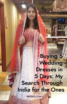 Bride-to-be Neha Prakash went shopping in Delhi and Bangalore to find five wedding looks for her nuptials in June.