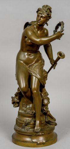 Estatua em bronze patinado do sec.19th, 71cm de altura, 10,880 USD / 9,660 EUROS / 43,540 REAIS / 71,510 CHINESE YUAN soulcariocantiques.tictail.com