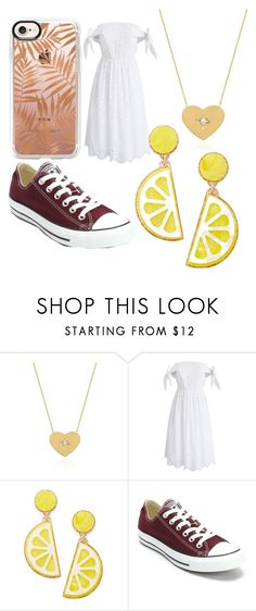 """Special Dinner"" by lordgigi ❤ liked on Polyvore featuring Johnny Was, Chicwish, Celebrate Shop, Converse and Casetify"
