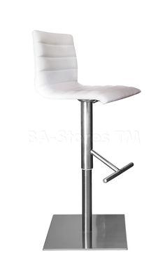 Jam-SGT Adjustable Bar Stool in White by DomItalia