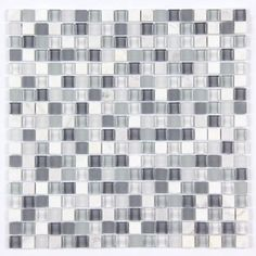 All Marble Mosaic Glass and Stone Mix 5/8 x 5/8 Glass Mosaic Tile from http://AllMarbleTiles.com