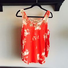 Studded Tie-dye Tank Top Perfect condition Forever 21 Tops Tank Tops