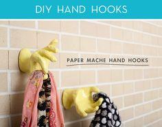 credit: Mandi Johnson [http://makingniceinthemidwest.com/2012/07/16/diy-paper-mache-hand-hooks/]