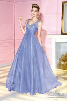 Alyce Paris 6284 prom dress available in Periwinkle; Pink; Lemon; #prom #formal