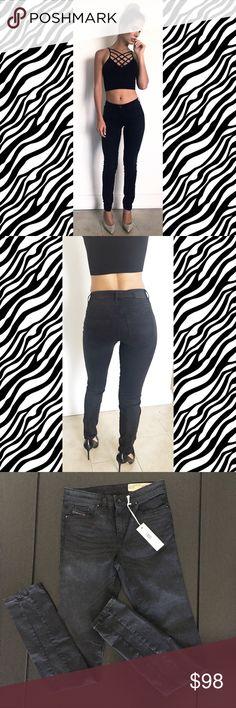 Diesel Skinzee-Dee Black Pant Style: Skinzee-Dee - Super Slim Skinny Regular Waist Wash:0609H Stretch (super comfortable) W27 L32 Diesel Pants Skinny