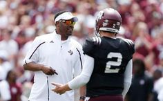 Texas Aggies Head Coach Kevin Sumlin was the last to know about the NCAA investigation re Johnny Manziel autographs. #examinercom http://www.examiner.com/article/aggies-head-coach-kevin-sumlin-found-out-about-manziel-news-yesterday?cid=db_articles