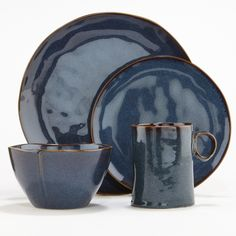 Organic Reactive Indigo Collection-Dinnerware-Dinnerware and Serving-Entertaining & Kitchen | World Market - blue like the ocean
