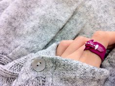 handmade leather suede ring by HeikiC on Etsy $14.00    fall 2012 color trend report //     visit us online at www.dailyetsyfeature.blogspot.com