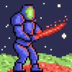 First attempts at pixel art