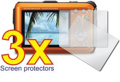 3x Panasonic Lumix DMC-TS3 DMC-FT3 Rugged Digital Camera Premium Clear LCD Screen Protector Cover Guard Shield Film Kit