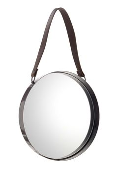 Master vintage style with this metal mirror with faux leather strap. Priced at £18.