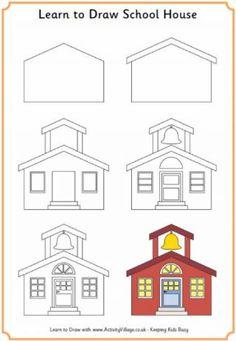 Apprendre à dessiner une maison d'école