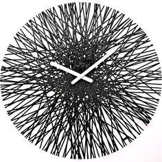Koziol Silk Acrylic Clock In Three Colours