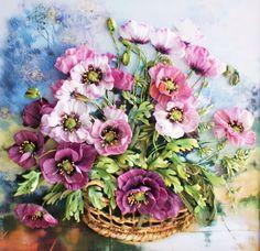 Hímzett szalagok a vadvirágok legelegánsabb festményei
