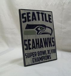 Seattle Seahawks Super Bowl Championship wall by Rt66VintageSigns, $28.00