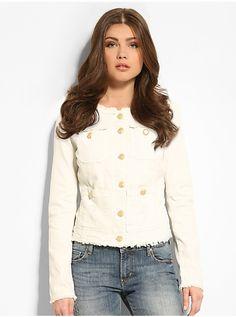 Laila White Denim Jacket | GUESS.eu