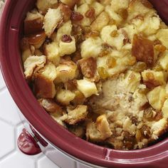 """Bread Pudding in the Slow Cooker 